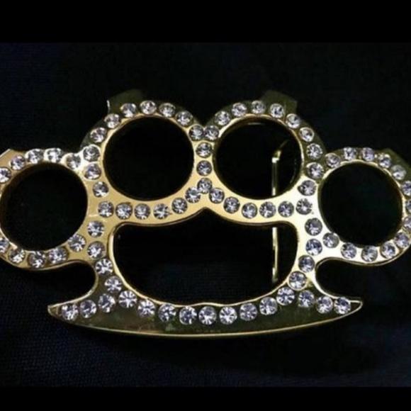 Other Beautiful Rhinestone Brass Knuckle Belt Poshmark